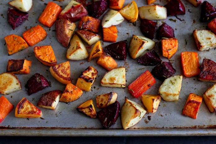 Roast root vegetables