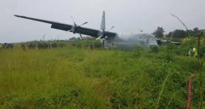 SA military plane crash and lands in the DRC