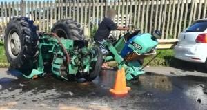 Tractor vs car crash