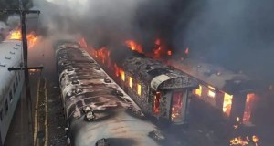 Train arson attack destroys 24 carriages at Bloemfontein station