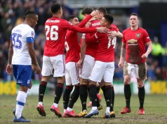 Tranmere Rovers 0 -6 Manchester United