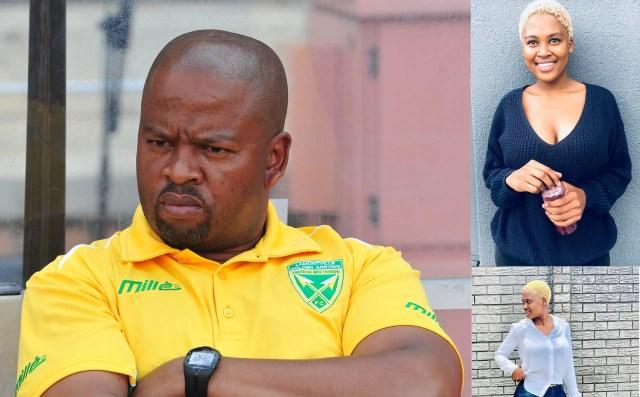 Mamelodi Sundowns assistant coach Manqoba Mngqithi and Isibaya actress Ntwenhle (real name Asavela)