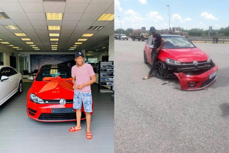Master KG involved in a Car accident