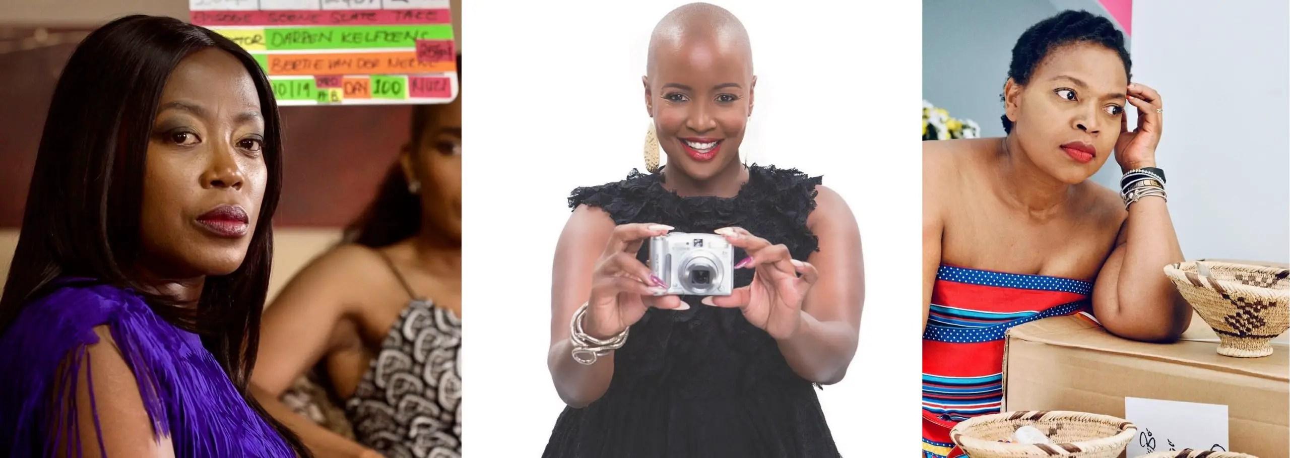 Rami Chuene (The Queen ), Rosie Motene (Generations) and Florence Masebe (Muvhango)