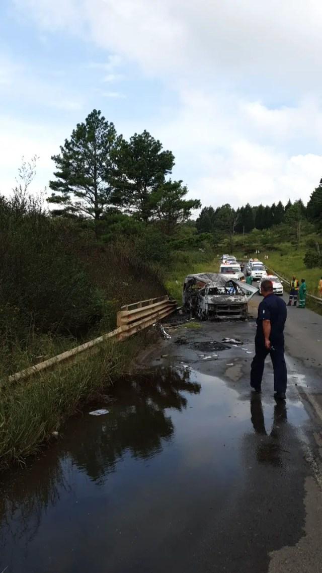 Seventeen injured in firey taxi crash