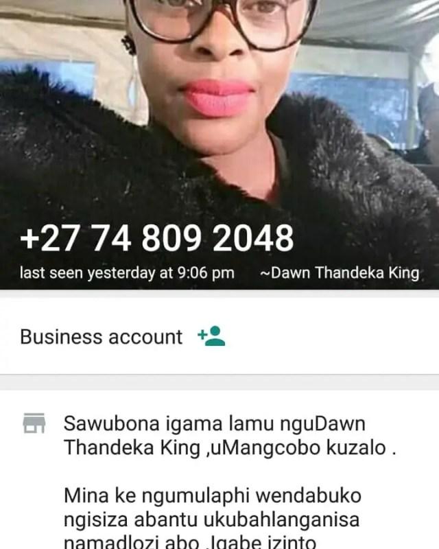 Thandeka Dawn King