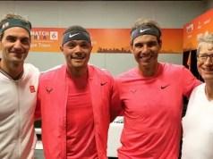 Roger Federer Trevor Noah Rafael Nadal Bill Gates