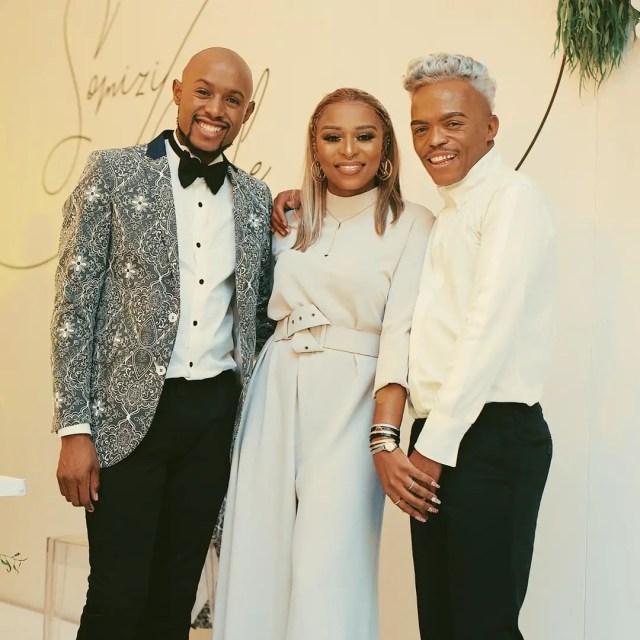 DJ Zinhle, Somizi and Mohale