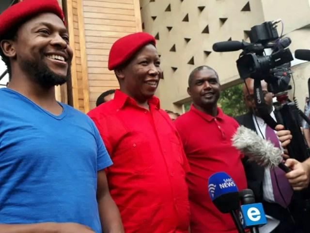 Godrich Gardee, Julius Malema and Mbuyiseni Ndlozi