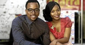 Maps Maponyane and Nomzamo Mbatha