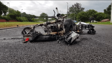 Photo of Motorcyclist killed after bike goes up in flames on M4