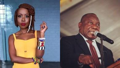 Ntsiki Mazwai and Cyril Ramaphosa