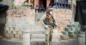 SANDF patrol during Lockdown