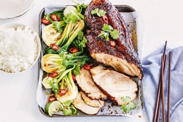 Slow roasted ginger pork