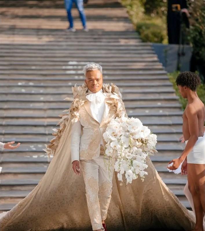 Somizi Mhlongo and Mohale Motaung white wedding