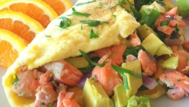 Photo of Herby smoked salmon omelette – Recipe
