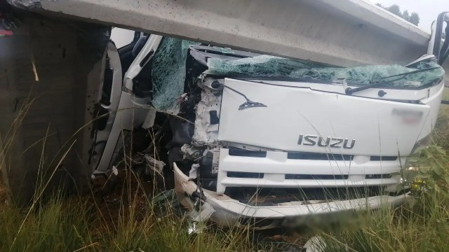 Driver injured in truck crash