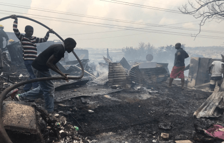 Fire destroys homes in Alexandra
