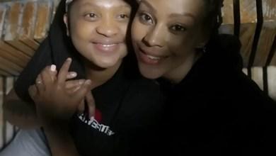 Letoya Makhene and her bae Lebohang Keswa