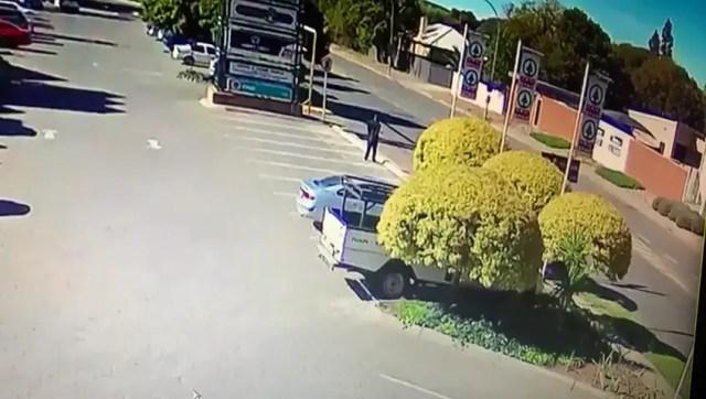 Police van strikes 2 pedestrians