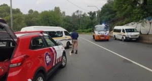 Taxi driver crashes car