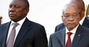 Cyril Ramaphosa and Zuma