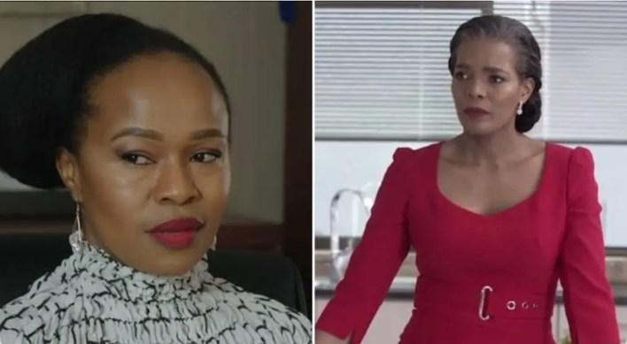 Lindiwe Dikana and Harriet Khoza