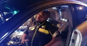 Sleeping drunk driver arrested in ANC shirt