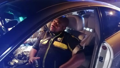 Photo of Sleeping drunk driver arrested in ANC shirt didn't say he is ANC – Minister Mbalula