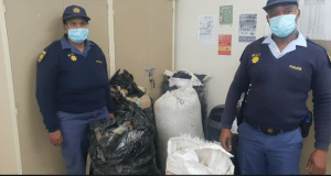Some of the bags of dagga seized by Northern Cape police at a checkpoint in Campbell