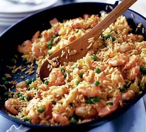 Spicy prawn rice