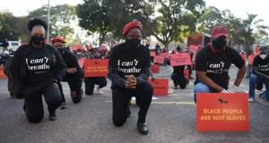 Malema kneeling for Floyd