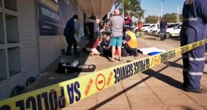 Man shot outside bank