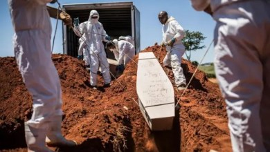 Mass graves for COVID-19 deaths