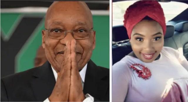 Nonkanyiso Conco and Jacob Zuma
