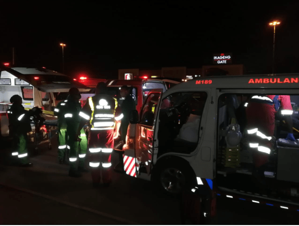 One person was killed and 14 others injured in a collision between a taxi and a light motor vehicle on Ikageng Road in Potchefstroom