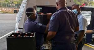 Police confisticate booze