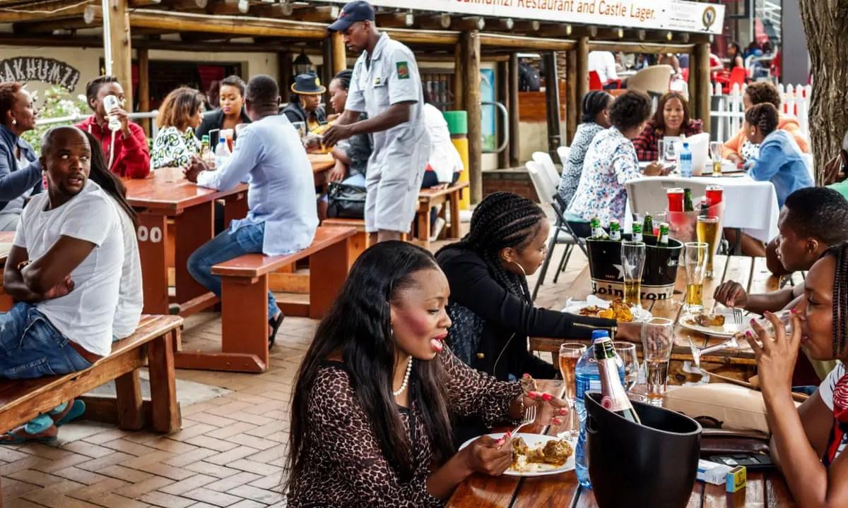 Restaurants along the famous Vilakazi Street in Soweto