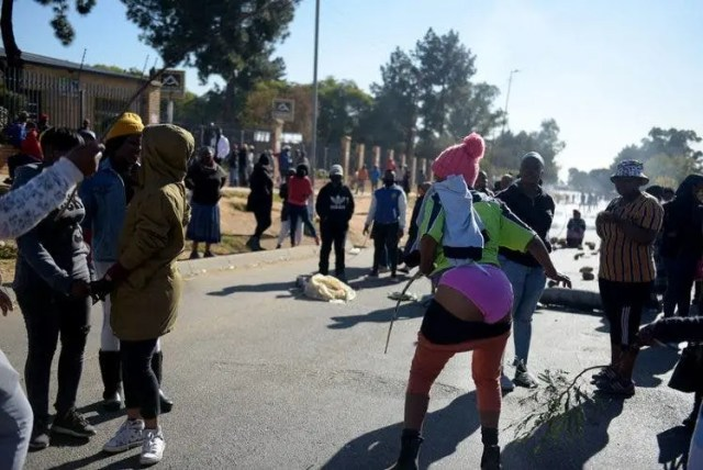 Anti-GBV protesters