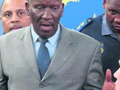 Bheki Cele and JP Smith
