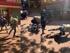 Security officer beats up an Indian family, father kicked, pregnant wife & kid fall to the ground at Thohoyandou mall
