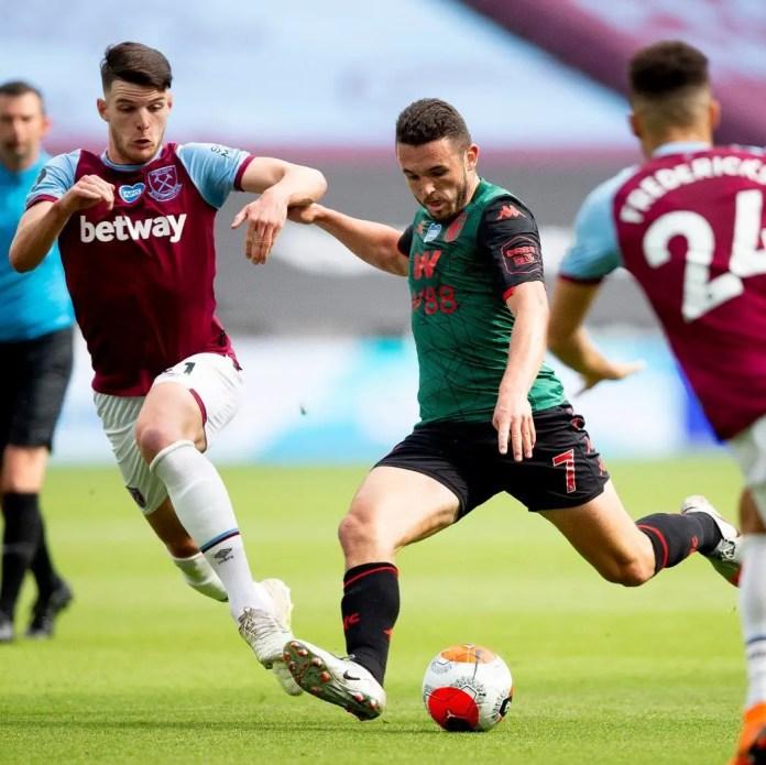 West Ham 1 – 1 Aston Villa