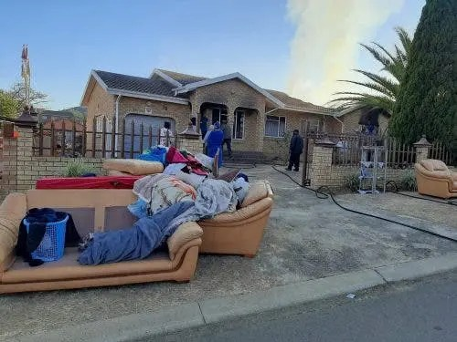 house catches fire in Peacevale