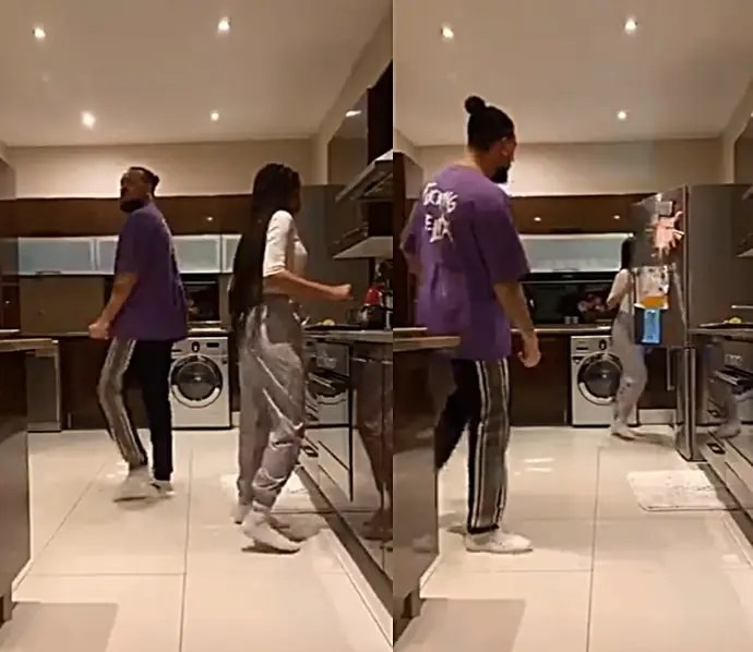 AKA and girlfriend Nelli Tembe having a good time in the Kitchen
