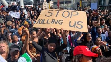 Gender-based violence protesters