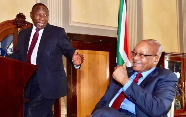 Jacob Zuma and Ramaphosa