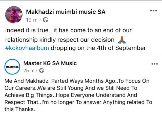 Makhadzi speaks out