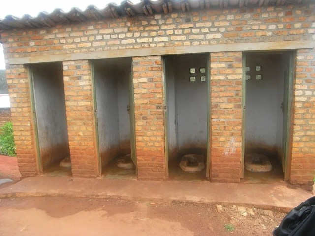 pit latrines