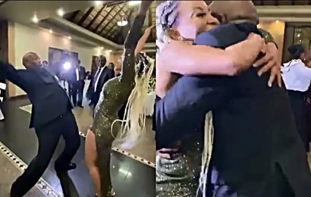 Khanyi Mbau dancing with Menzi Mcunu