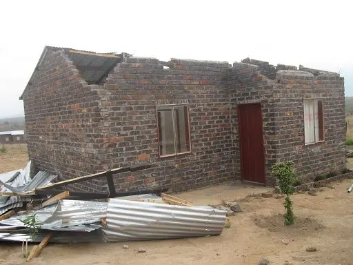 damaged RDP houses
